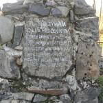 Tablica na Grobie Męczenników
